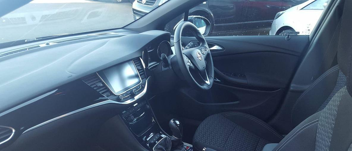 Inside Opel car