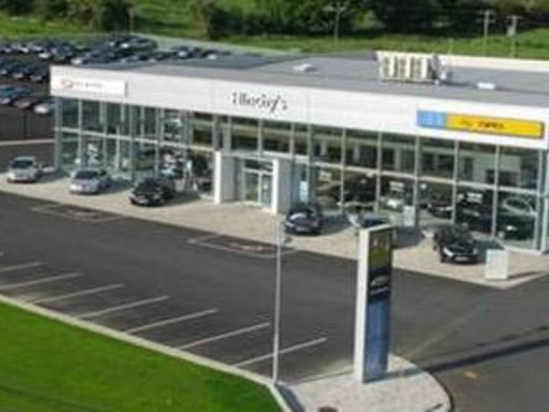 Areal View of Hinchy's Dealership in Garryspillane